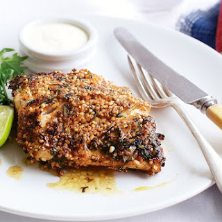 Blue-eye fillets with an Indian spice crust