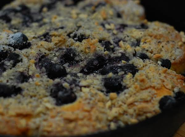 Blueberry Skillet Coffee Cake Recipe