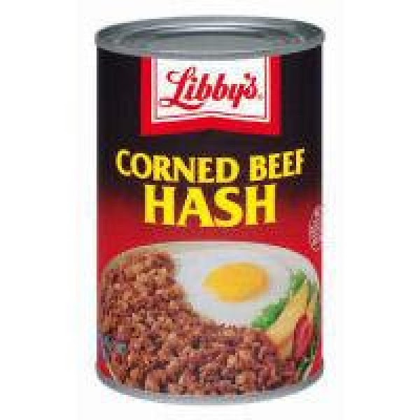 Press 1/3 can of corned beef hash into a small microwavable bowl, leaving an...