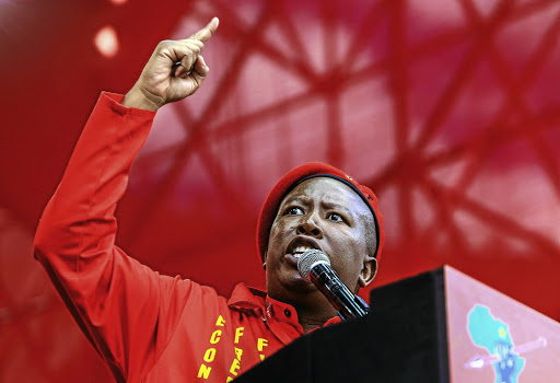 Like Adolf Hitler of Germany, EFF leader Julius Malema Manufesto is leading South African down a fascist path. / Simphiwe Nkwali.