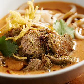 Pig-Skin Noodle Curry Bowl.