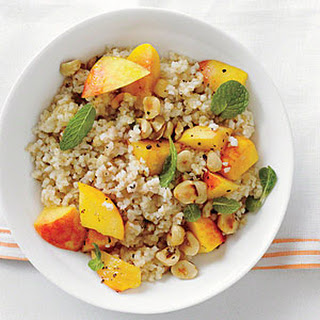 Bulgur with Peaches and Mint.