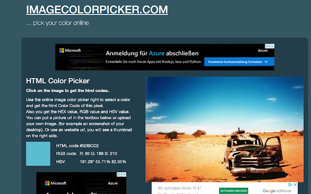 Image Color Picker - Pick your color online - Chrome Web Store