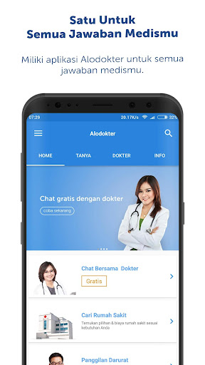 Alodokter: Chat Bersama Dokter app (apk) free download for Android/PC/Windows screenshot