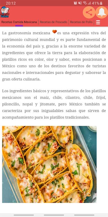 Recetas Comida Mexicana Android Aplicaciones Appagg