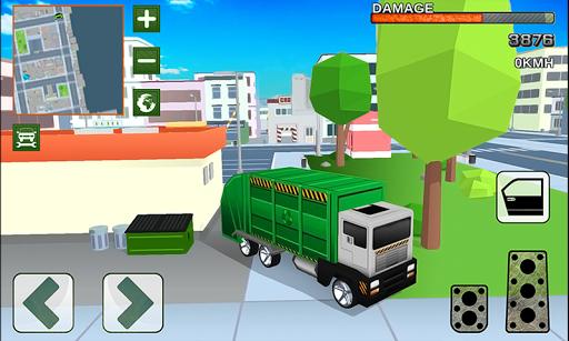 Blocky Garbage Truck Simulator