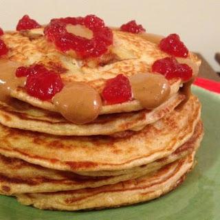 PB&J Protein Pancakes.