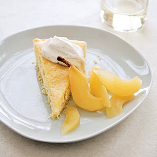 Buttermilk Cake with Riesling-Poached Pears