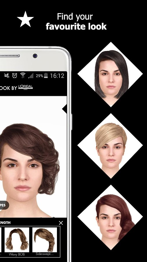 Hair Style App Style My Hair Hair Styles And Hair Colors Try On  Android Apps .