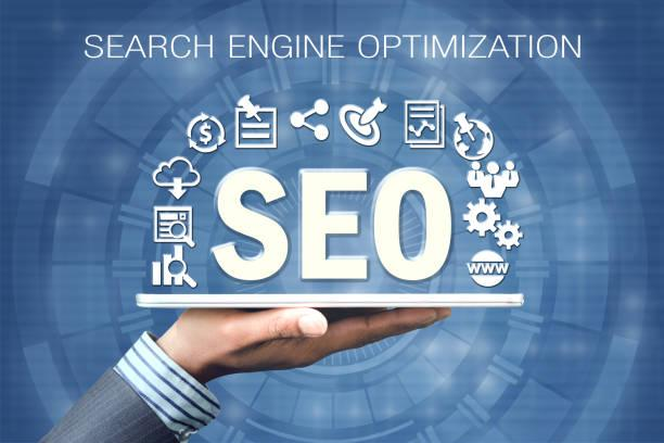 SEO - Search Engine Optimization SEO or Search Engine Optimazation information being displayed seo stock pictures, royalty-free photos & images