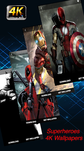 Superheroes Wallpapers 4K | HD Backgrounds Pro 1.0.1 screenshots 1