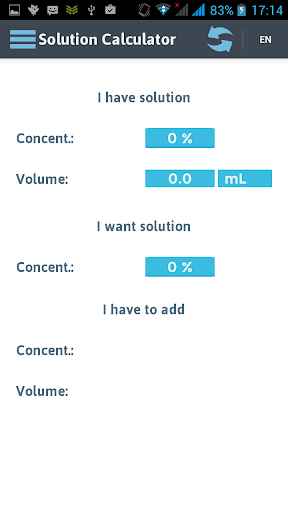 Solution Calculator