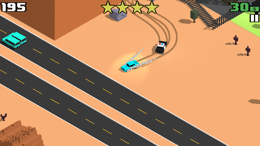 android Smashy Road: Wanted Screenshot 1