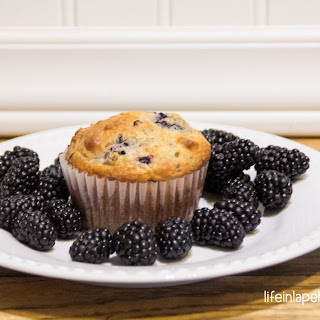 Homemade Blackberry Muffins