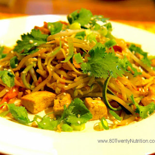 Pad Thai with Zoodles - Low Carb, Vegan and Paleo!.