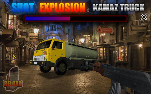 Shot Explosion Kamaz Truck
