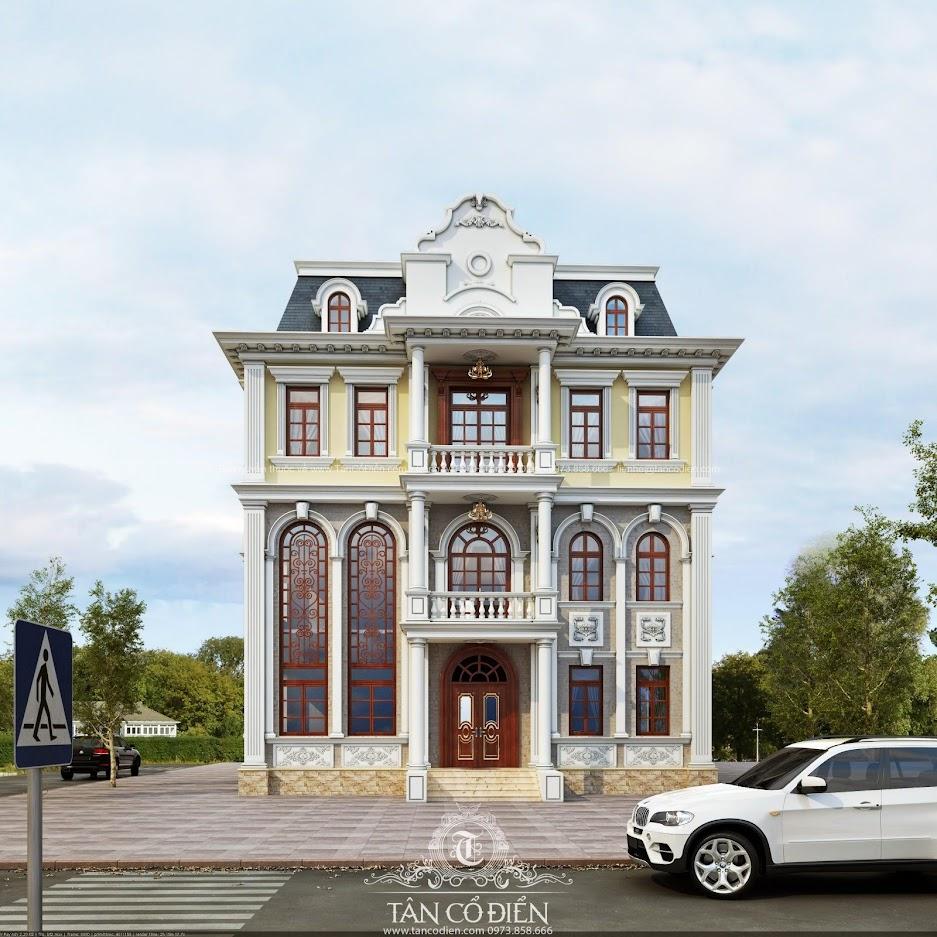 Mẫu thiết kế biệt thự cổ điển cực đẹp ở Thanh Hóa