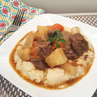Pressure Cooker Beef Stew with Root Vegetables.