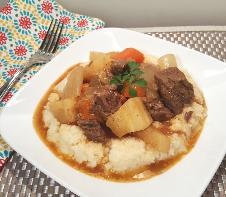 Pressure Cooker Beef Stew with Root Vegetables Recipe