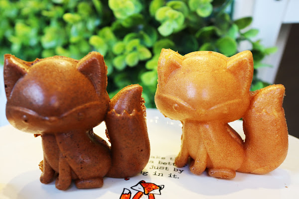 小狐狸的日嚐甜點,中和美食,近永安市場站,療癒系狐狸雞蛋糕,搬家後的新地址,假日限定餡料狸掌燒