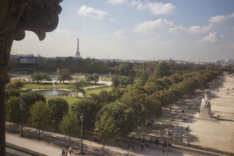 Photo: First sight of the Eiffel Tower, caught from a tiny window on the 4th story of theMusée des Arts Décoratifs
