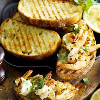 Grilled Garlic Shrimp Bruschetta.