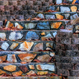 Rock Garden Stairway by Dave Walters - Buildings & Architecture Other Exteriors ( lumix fz200 rocks colors stairway, lumix fz200 rocks, lumix fz200 rocks colors stairway rock garden, lumix fz200, lumix fz200 rocks colors )