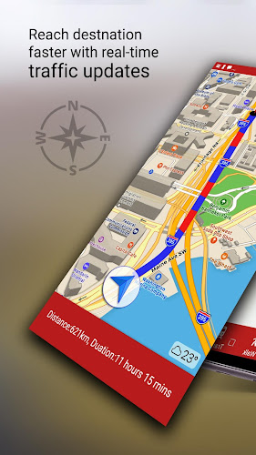 Free-GPS, Maps, Navigation, Directions and Traffic Android App Screenshot