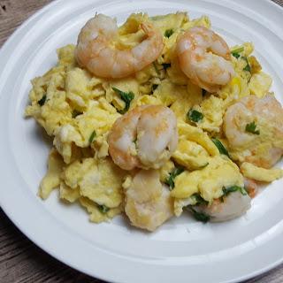 Prawns Omelette (滑蛋虾仁)