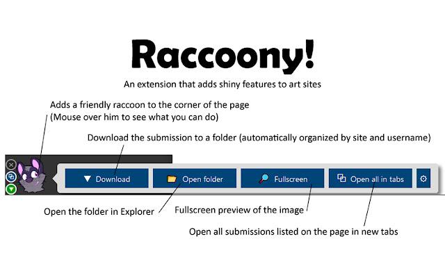 Raccoony WebExtension