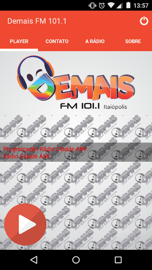 Demais FM 101.1- screenshot