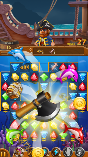 Télécharger Jewels Ocean : Une aventure de puzzle Match3 mod apk screenshots 4