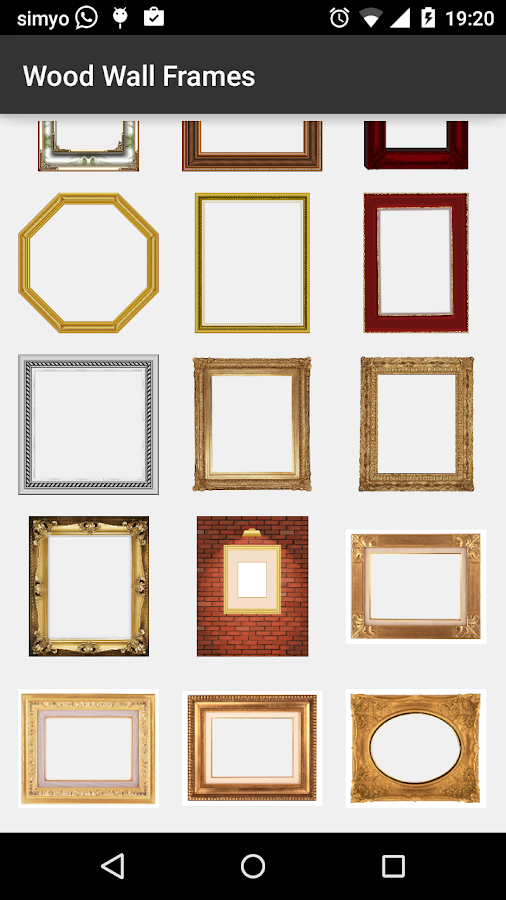 Wood wall photo frames android apps on google play for Picture on wall app