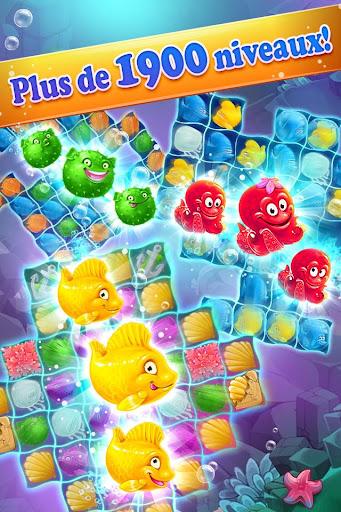 Mermaid -puzzle match-3 trésor  captures d'écran 2
