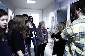Photo: Il Dirigente Scolastico con i giornalisti di telerama