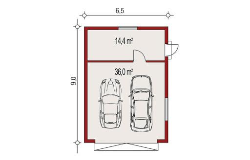 APG-2 wersja C - Rzut garażu