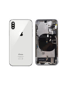 iPhone XS Housing with small parts Original Pulled Silver