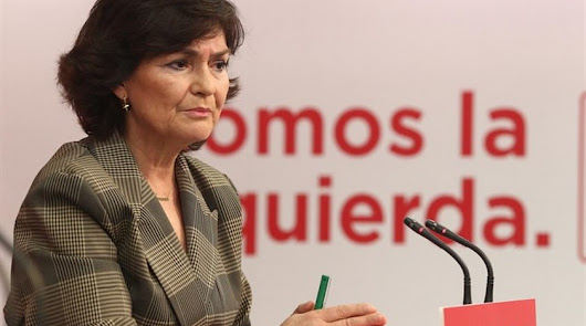 La vicepresidenta Calvo, ingresada por una infección respiratoria