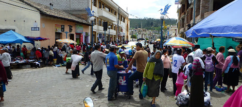 Photo: The streets of the town are filled with a general market