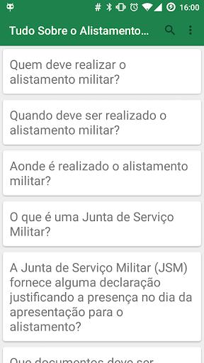 Tudo sobre Alistamento Militar