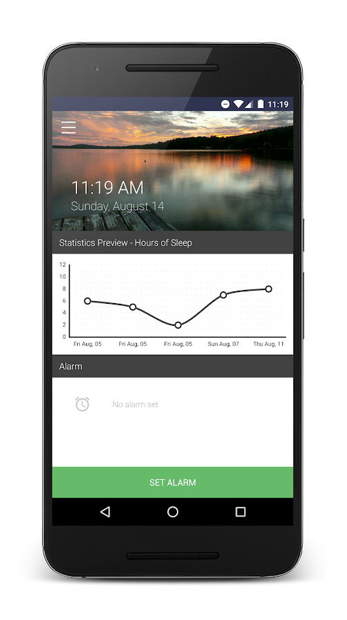 WatisSleep Alarm Clock- screenshot