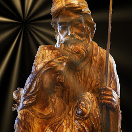Wood Carving by Dave Walters - Digital Art People ( religious, lumix fz2500, easter, wood carving, digital art )
