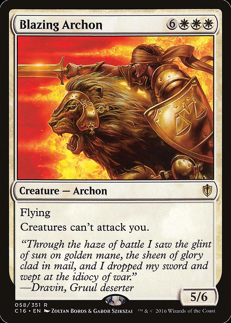 Blazing Archon MTG Card
