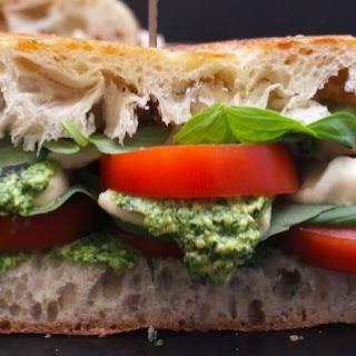 Vegan Pesto Caprese Sandwich