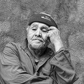 At Peace by Tawfik Dajani - People Portraits of Men