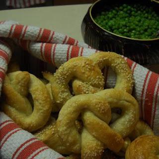 Chewy Soft Sesame Pretzels