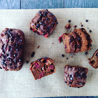 Mini Chocolate Cranberry Pumpkin Loaves