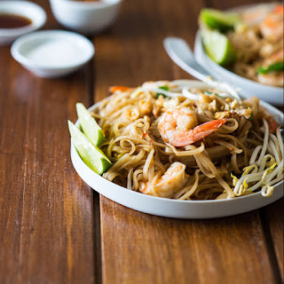 Shrimp Pad Thai For Four.