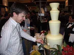 Photo: Mmm chocolate fountain.  Dave Steinberg at EclipseCon 2006