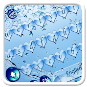 Blue Water Heart Keyboard Theme